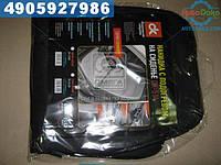 Накидка на сиденье с подогревом черная низкая 12В (Дорожная Карта)  DK-514BK