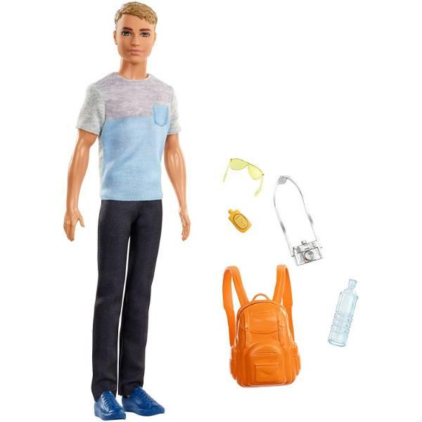 Barbie Барби Кен путешествия турист FWV15 Travel Ken Doll Dark Blonde