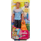 Barbie Барби Кен путешествия турист FWV15 Travel Ken Doll Dark Blonde, фото 4