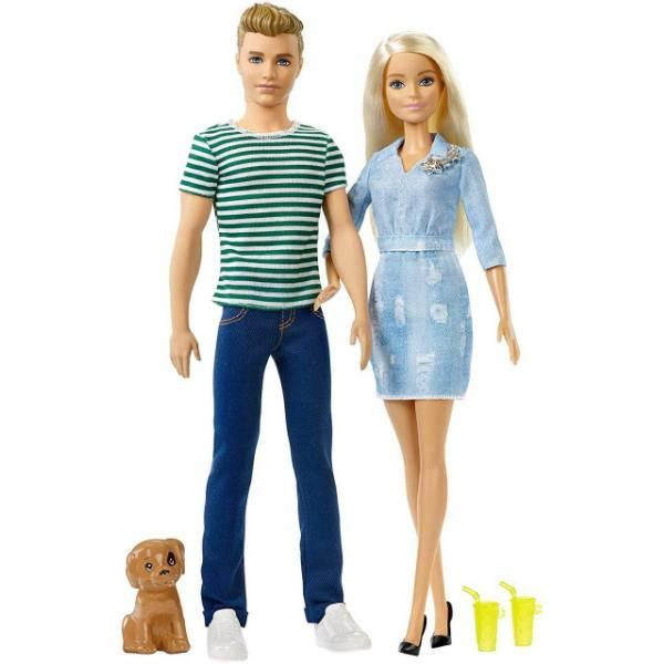 Barbie Набор кукол Барби с аксессуарами и Кен со щенком FTB72 Dolls Accessories Ken Puppy Dolls Puppy