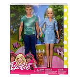 Barbie Набор кукол Барби с аксессуарами и Кен со щенком FTB72 Dolls Accessories Ken Puppy Dolls Puppy, фото 6