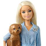 Barbie Набор кукол Барби с аксессуарами и Кен со щенком FTB72 Dolls Accessories Ken Puppy Dolls Puppy, фото 2