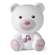 Chicco Ночник Сладкий плюшевый мишка розовый nightlight Dreamlight Bearboys 14 cm white/pink