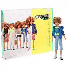 Creatable World Лялька Створюваний світ світлі кучеряве GGG56 Deluxe Blonde Curly Hair Character Kit Customizable Doll