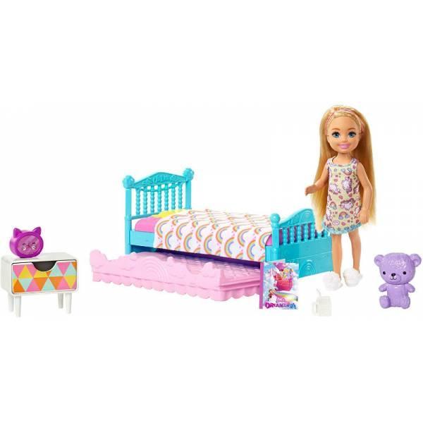 Barbie Барби клуб Челси Спальная комната время сна FXG83 Club Chelsea Bedtime Playset