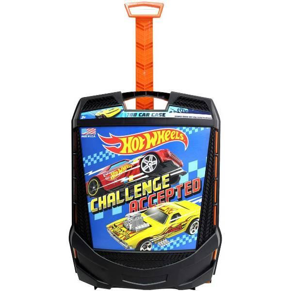 Hot wheels Кейс чемодан на колесах для хранения 100 машинок 20135 Rolling Storage Case Retractable Handle