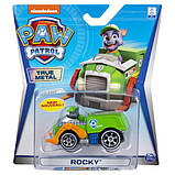 Paw Patrol Щенячий патруль Рокки с автомобилем металлическая Rocky True Metal Die-Cast Vehicle, фото 3