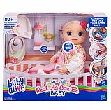 Baby Alive Інтерактивна лялька пупс Моя Улюблена Малютка E2352 Real As Can Be Baby Blonde Hair, фото 5