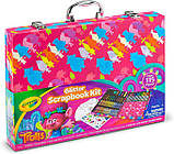 Crayola набор для творчества в чемодане кейсе скрапбукинг тролли Trolls Glitter Scrapbook Kit, фото 2