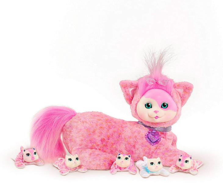 "Kitty Surprise Мягкая игрушка-сюрприз Беременная кошка с котятами Джиджи 42307 Gigi 12"" Plush"