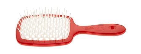 Расческа для волос Janeke 1830 Superbrush The Original Italian Red White Коралл