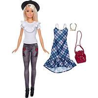 Barbie Барби модница #83 с набором одежды Джинсовый цветок FJF68 Fashionistas Denim Floral Doll