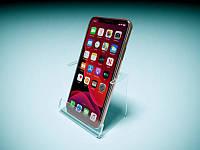 Подставка под смартфон с ценникодержателем, 95х70х60 мм (Толщина акрила : 1,8 мм; )