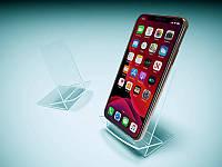 Підставка для смартфона з пластику, 65х90х70 мм (Товщина акрилу : 1,8 мм; )