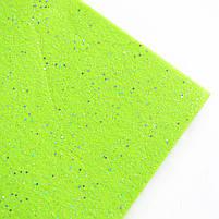 Набор Фетр Santi мягкий с глит. салатовый 21*30см (10л) код: 741812, фото 2