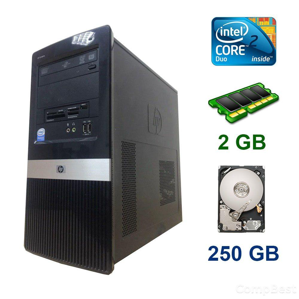 HP Compaq dx2420 Tower / Intel Core 2 Duo E8400 (2 ядра по 3.0 GHz) / 2 GB DDR2 / 250 GB HDD