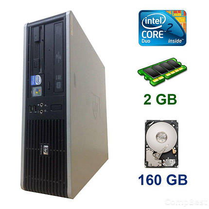 HP dc5800 SFF / Intel Core 2 Duo E8400 (2 ядра по 3.0 GHz) / 2 GB DDR2 / 160 GB HDD, фото 2