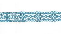 Лента фигурная самоклеящаяся блестящая, Кружево, голубая, 1.5 м код: 742256, фото 2