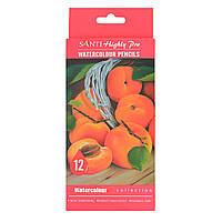 Набор акварельных карандашей Santi Highly Pro, 12 шт код: 742383