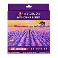 Набор акварельных карандашей Santi Highly Pro, 24 шт код: 742385
