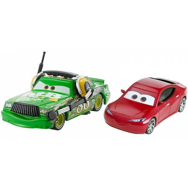 Disney Cars 3 Тачки 3 набор Чико Шик Хикс и Натали кертайн DXW07 Natalie Certain & Chick Hicks