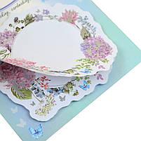Набір паперових декорів з клейовим шаром Floral frame фольгованих 20 шт. код: 742547, фото 2