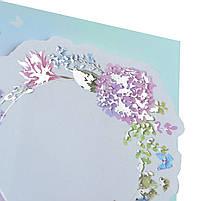 Набір паперових декорів з клейовим шаром Floral frame фольгованих 20 шт. код: 742547, фото 3