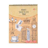 Альбом с крафтовой бумагой  Santi, А5, 50 л., 70 г/м2      код: 742610