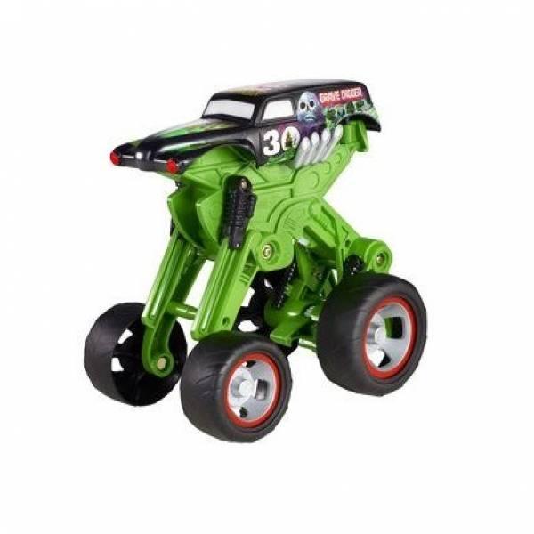 Hot Wheels Monster Jam Стрибає позашляховик джип копач W3371 Mega Air Jumper Grave Digger 30th