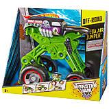 Hot Wheels Monster Jam Стрибає позашляховик джип копач W3371 Mega Air Jumper Grave Digger 30th, фото 2