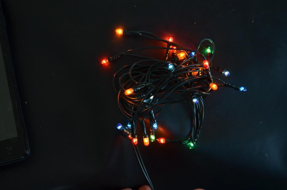 Електрогірлянда Yes Fun 26 мікроламп багатобарвна 12 м. 1 реж.мигання зел.провід. 801061