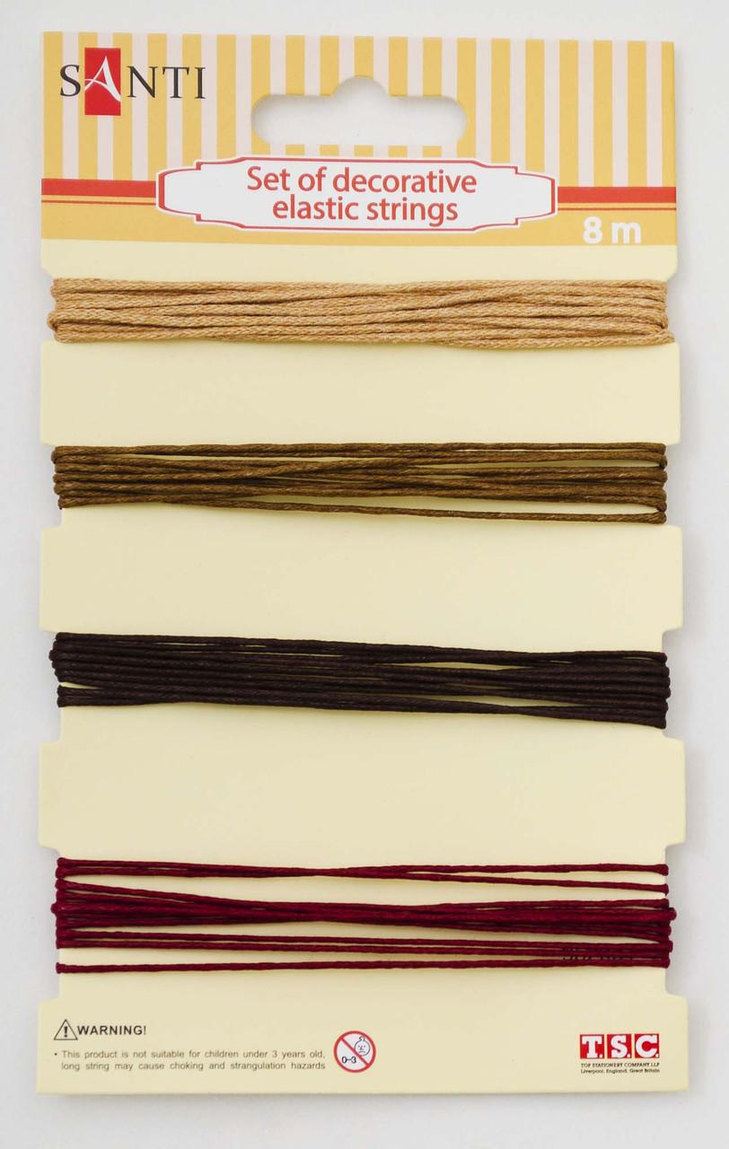 Набір декоративних шнурів 4 кольори 8м/уп. бронзовий код: 952031