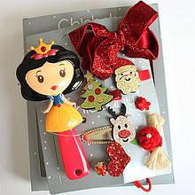 Набор детских аксессуаров заколки и расческа для девочек младшего возраста Белоснежка