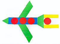 Набор геометрической мозаики, 20 фигур на магнитной основе код: 952921, фото 3