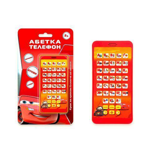 """Телефон музыкальный """"Тачки: Азбука"""" (укр) 7Toys KI-7044 ( TC58159)"""