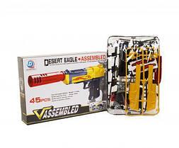 """Пистолет-конструктор """"Desert Eagle"""", 45 деталей QILEDA TOYS 777A, 777A-2 ( TC59107)"""