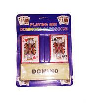 Домино + 2 колоды карт IGR46 MIC (TC50284)
