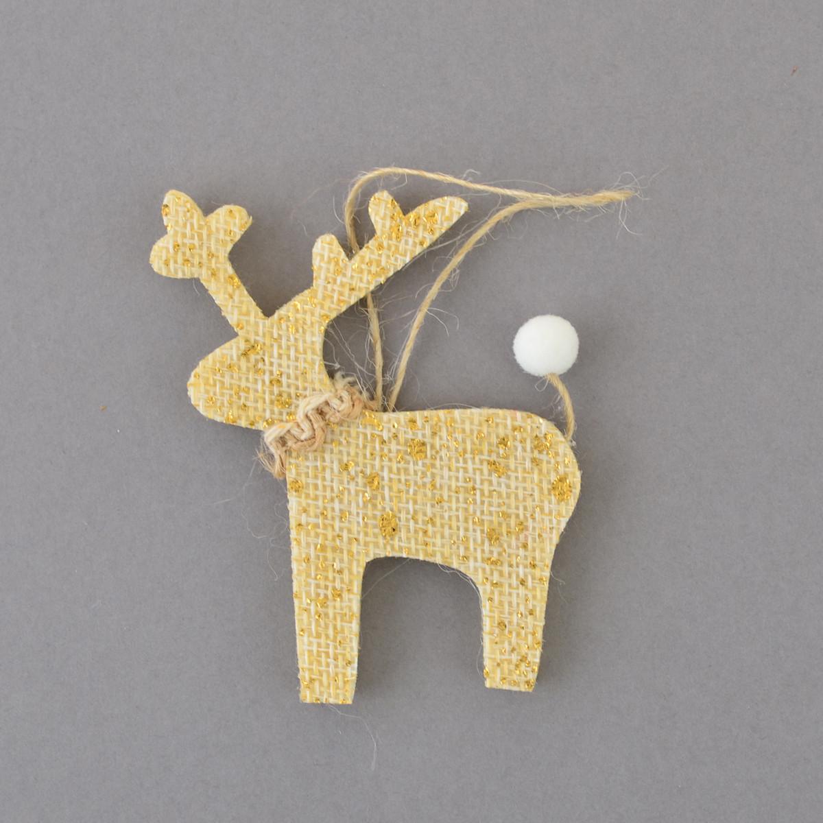 Набор подвесок Yes! Fun Олени, декорированный золотом, 4 шт. код: 973466