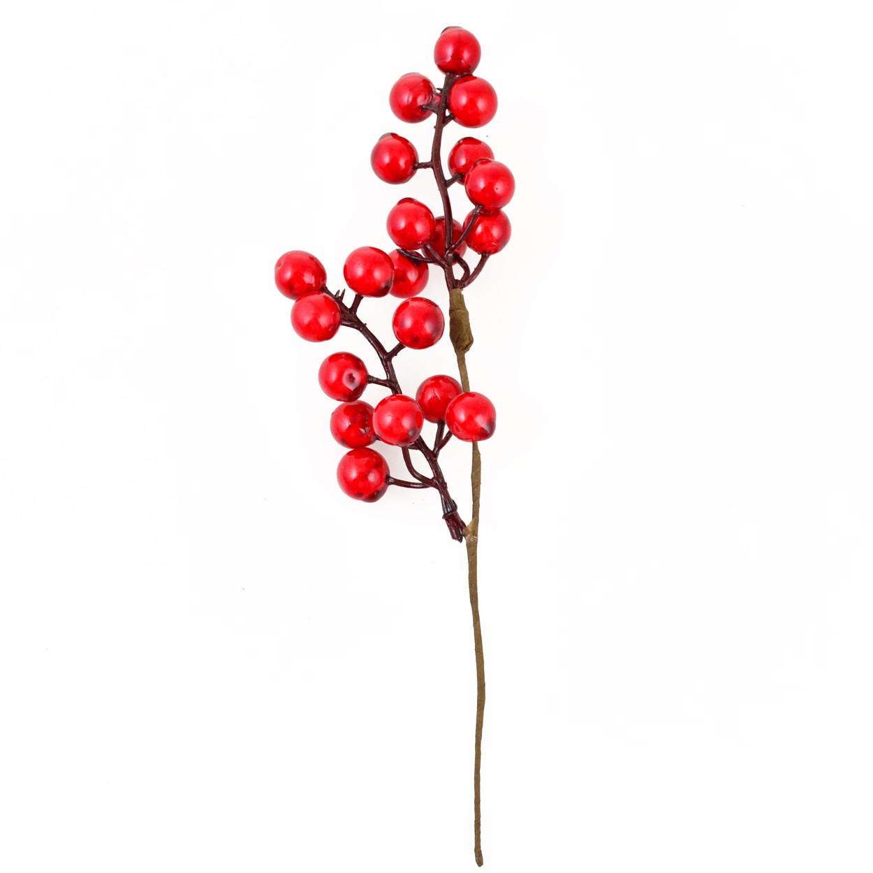 Ветка Yes! Fun с красными ягодами, 24 см код: 973526