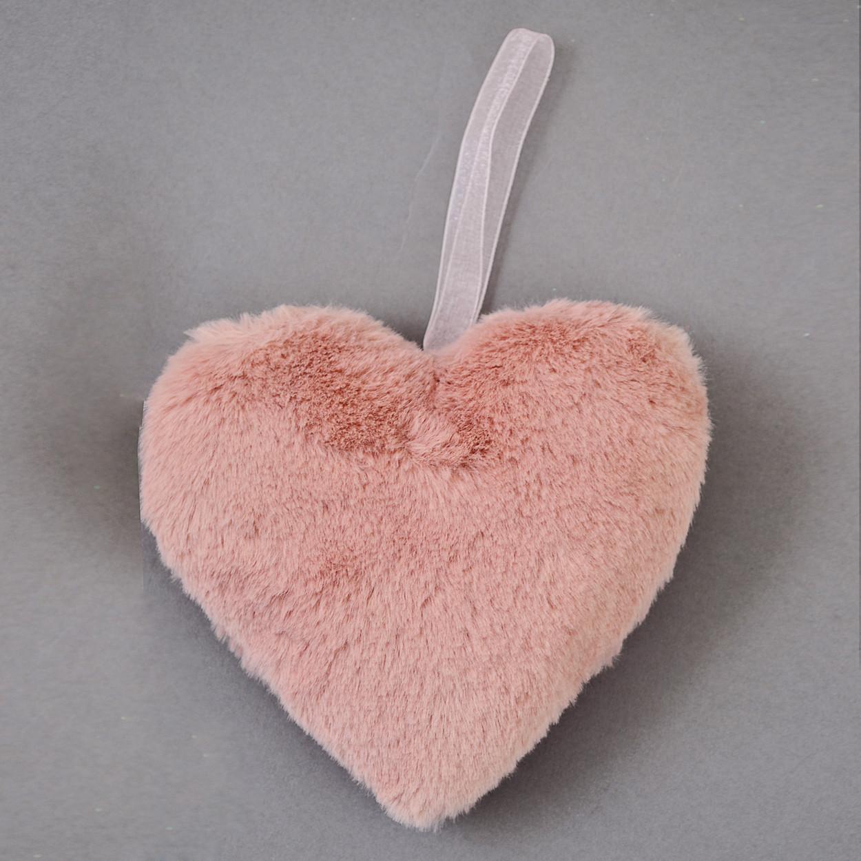 Сердце Yes! Fun пушистое розовое, 15 см код: 973553