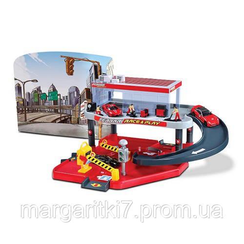 Игровой набор - ГАРАЖ FERRARI (2 уровня, 1 машинка 1:43)