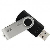 USB флеш накопитель GOODRAM 64GB Twister Black USB 2.0 (UTS2-0640K0R11), фото 1
