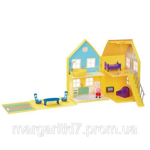 Игровой набор Peppa - ДОМ ПЕППЫ ДЕЛЮКС (домик с мебелью, фигурка Пеппы)
