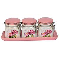 Набор банок для сыпучих продуктов Flowers - 209695