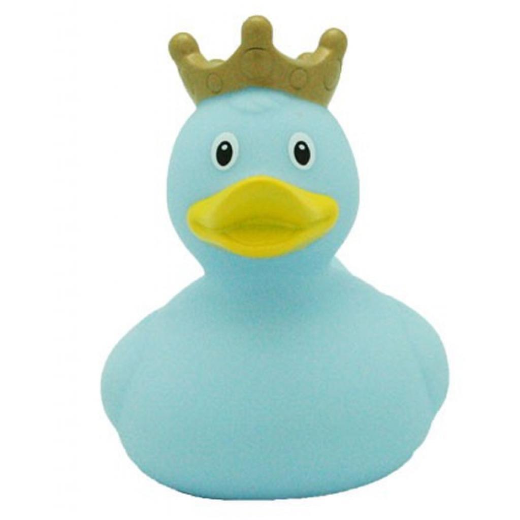 Игрушка для ванной LiLaLu Утка в короне голубая (L1927)