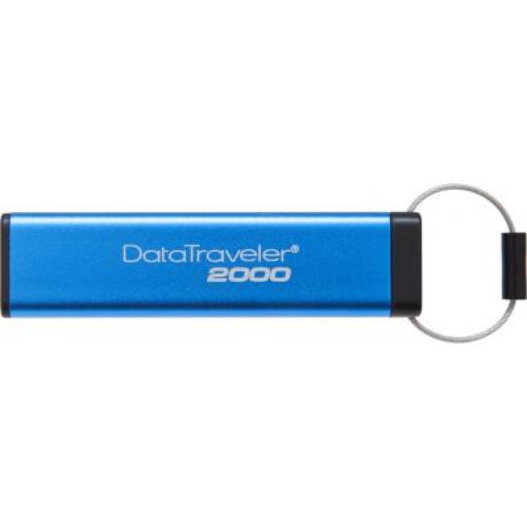 USB флеш накопитель Kingston 16GB DT 2000 Metal Security USB 3.0 (DT2000/16GB)