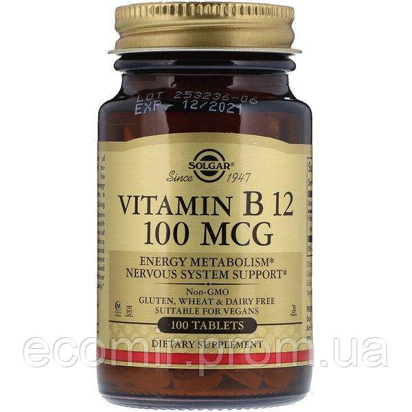 Витамин B12, Solgar (100 мкг/ 100 табл)