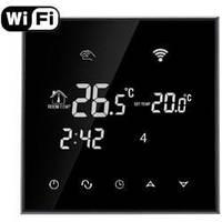 WiFi Программируемый сенсорный терморегулятор Ecoset Tgt70 WiFi Black для теплого пола с датчиком