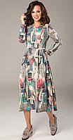 Платье TEFFI style-1364 белорусский трикотаж, акварель, 44