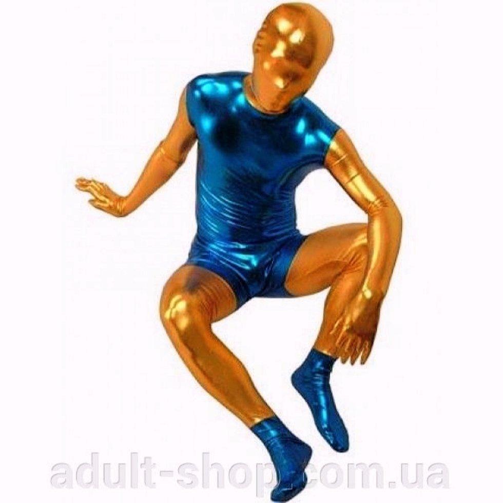 РАСПРОДАЖА! Золотисто-синий комбинезон для секс-игр